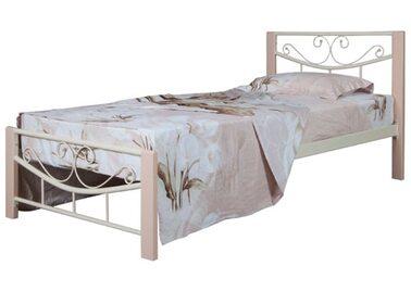 Кровать МИЛЛЕНИУМ ВУД (черный/беж) метал. 90х200см