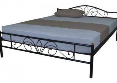Кровать РЕЛАКС (черный/беж) метал. 160х200см