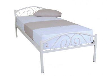 Кровать РЕСПЕКТ (черный/беж) метал. 90х200см